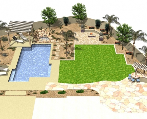 Landscape Remodel Rendering by Certified Trees